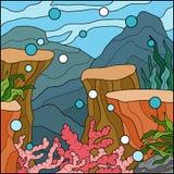 Illustration de vecteur, fond (sous la mer) Image libre de droits