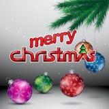 Illustration de vecteur de Grey Glossy Merry Christmas Background illustration libre de droits