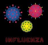 Illustration de vecteur de grippe de forme de virus illustration stock