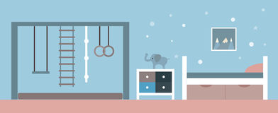 Illustration de vecteur Intérieur de la salle du ` s d'enfants illustration stock