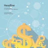 Illustration de vecteur L'argent se connecte le fond bleu Image libre de droits