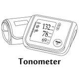 Illustration de vecteur de l'outil médical Tonometer Photographie stock libre de droits