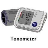 Illustration de vecteur de l'outil médical Tonometer Photos stock