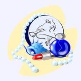 Illustration de vecteur La fille s présente des objets femme de sacs à main de ramassage d'accessoires illustration de vecteur