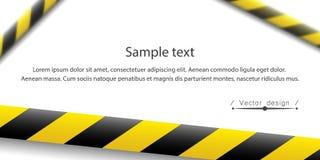 Illustration de vecteur de la ligne d'attention Dispositifs avertisseurs de police noire jaune, clôturant Signe de danger Ne croi illustration libre de droits