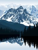 Illustration de vecteur - lac en montagnes illustration libre de droits