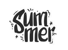 Illustration de vecteur : Lettring tiré par la main de griffonnage de bande dessinée de l'été sur le fond blanc illustration de vecteur
