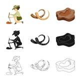 Illustration de vecteur de logo d'histoire et d'articles Collection de symbole boursier d'histoire et d'attributs pour le Web illustration libre de droits