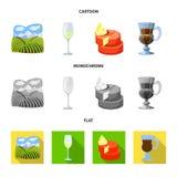 Illustration de vecteur de logo de ferme et de vignoble Collection de symbole boursier de ferme et de produit pour le Web illustration libre de droits