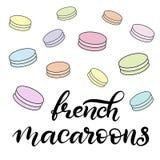 Illustration de vecteur de macaron avec le lettrage illustration stock