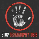 Illustration de vecteur Maladie humaine Dermatophytose d'arrêt illustration stock