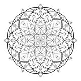 Illustration de vecteur - mandala pour la coloration Modèle d'Abatract pour la coloration Modèle rond d'ornement Page carrée de c illustration libre de droits