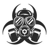 Illustration de vecteur de masque de gaz respirateur risque biologique illustration libre de droits