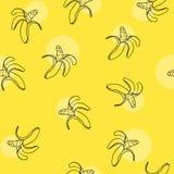 Illustration de vecteur Modèle de banane d'aspiration de main illustration libre de droits