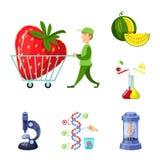 Illustration de vecteur de modifier et génétiquement logo Placez de l'illustration courante modifiée et de la science de vecteur illustration libre de droits