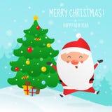 Illustration de vecteur de Noël et de bonne année illustration de vecteur