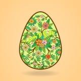 Illustration de vecteur Oeuf de pâques abstrait sur le fond clair Photographie stock