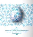 Illustration de vecteur Oeuf de pâques avec le modèle bleu sur un CCB floral illustration de vecteur