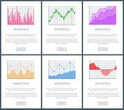 Illustration de vecteur de page d'Analytics et de statistiques Images libres de droits