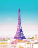 Illustration de vecteur paris Tour Eiffel Images stock