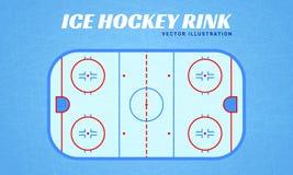 Illustration de vecteur de piste de hockey sur glace Conception de sports d'hiver Style plat Texture de glace Champ d'hockey sur  illustration de vecteur