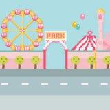 Illustration de vecteur de pixel Parc d'attractions images stock