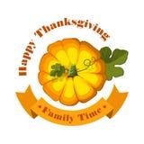 Illustration de vecteur Potiron de thanksgiving d'isolement Photo stock