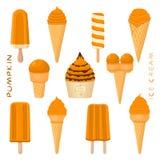 Illustration de vecteur pour la crème glacée savoureuse naturelle illustration stock
