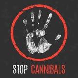 Illustration de vecteur Problèmes sociaux de l'humanité Arrêtez les cannibales illustration stock