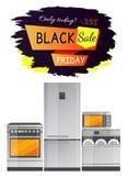 Illustration de vecteur de promotion des ventes de Black Friday illustration stock