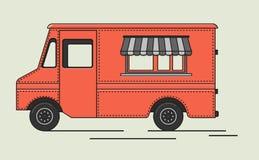 Illustration de vecteur de rétro camion plat illustration de vecteur
