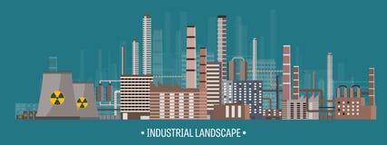 Illustration de vecteur Révolution Industrielle d'urbanisation pipe Pollution atmosphérique Pétrole et combustible gazeux Format