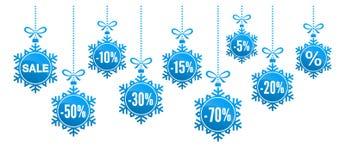 Illustration de vecteur de remise de flocons de neige de Noël illustration libre de droits