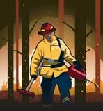 Illustration de vecteur de sapeur-pompier de terres non cultivées illustration libre de droits