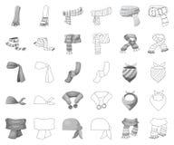 Illustration de vecteur de signe d'écharpe et de châle Ensemble d'icône de vecteur d'écharpe et d'accessoire pour des actions illustration de vecteur