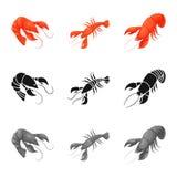 Illustration de vecteur de signe d'apéritif et d'océan Placez du symbole boursier d'apéritif et de délicatesse pour le Web illustration stock