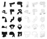 Illustration de vecteur de signe d'?charpe et de ch?le Ensemble d'ic?ne de vecteur d'?charpe et d'accessoire pour des actions illustration de vecteur