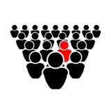 Illustration de vecteur : Soyez différent, le concept de différence Art Isolated graphique sur le fond blanc illustration stock