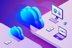 Illustration de vecteur de storage technology de nuage Images stock