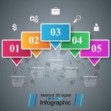 Illustration de vecteur de style d'origami d'Infographics d'affaires illustration stock