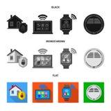 Illustration de vecteur de symbole de bureau et de maison Collection de symbole boursier de bureau et de système pour le Web illustration de vecteur