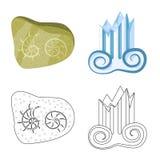 Illustration de vecteur de symbole d'histoire et d'articles Placez de l'ic?ne d'histoire et de vecteur d'attributs pour des actio illustration libre de droits