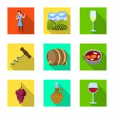 Illustration de vecteur de symbole de ferme et de vignoble Collection d'icône de vecteur de ferme et de produit pour des actions illustration libre de droits