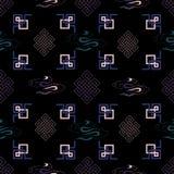 Illustration de vecteur de symbole traditionnel de noeud, ornements, modèle sans couture de répétition illustration stock