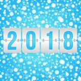 Illustration de vecteur de tableau indicateur de 2018 bonnes années Modèle de neige de vacances d'hiver pour la célébration Fond  Photo libre de droits