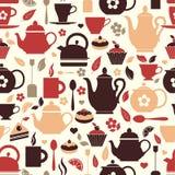 Illustration de vecteur de thé Modèle sans couture de symbole de thé illustration de vecteur
