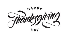 Illustration de vecteur : Type manuscrit composition en lettrage de jour heureux de thanksgiving illustration libre de droits