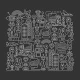 Illustration de vecteur de ville de robot illustration de vecteur
