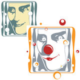 Illustration de vecteur - visage de clown et de joker Photos stock
