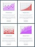 Illustration de vecteur de Web d'Analytics et de statistiques Photo libre de droits
